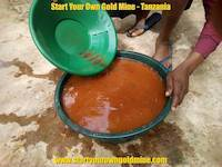 Gold panning training