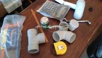Plumbing parts and glue