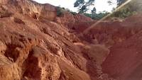The excavated open pit