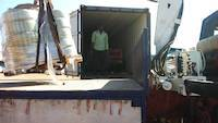 Offloading goods from a container
