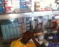 Waking up the pharmacist in Geita, Tanzania