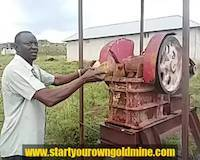 Jaw crusher test in Tanzania