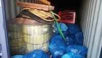 Humanitarian goods and mining equipment