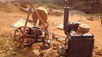 The rock crusher, rudimentary batch ball mill