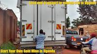 The truck ready to depart with our equipment to alluvial gold mining site in Uganda