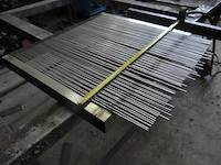 Single sluice grizzly bars in manufacture