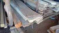 Wooden boards for gold washing sluices