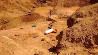 Work on the open pit