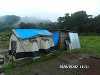 2020-05-02: Tent and cabing, behind view