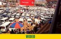 Kampala Taxi Park with huge number of public taxis as of April 10th 2017