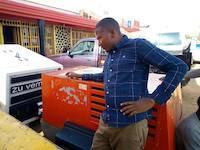 M'hengele with compressors in Kahama, Tanzania