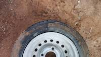 Flat tyre of a compressor
