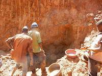 Rich gold ore vein