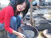 Amy panning for gold