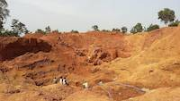Gold prospecting on open pit near Amonikakinei, Tiira, Busia, Uganda