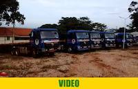The trucks for sale in Entebbe, Uganda, April 12th 2017