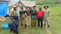 February 28th 2020, Together with mineral police protection in Kisoro, Uganda