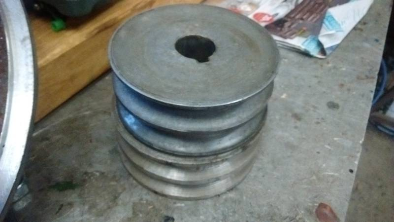 This is the pulley as used on our impact mills