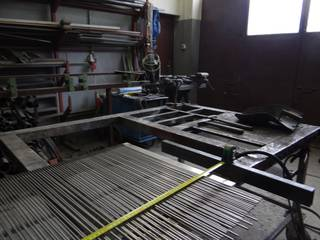 The workshop and manufacture of the screen, grizzly bars for gravel classification