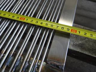 The width of single sluice grizzly bars is 60 cm