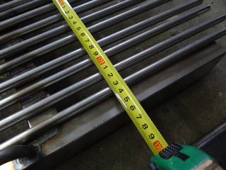 The width of the grizzly bars is about 120 - 126 cm