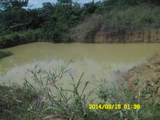A dam at a site in Ghana - Goldivanti Mining Research in Ghana 2014