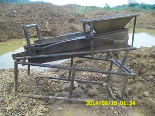 Soagum - gold washing plant in Ghana - Goldivanti Mining Research in Ghana 2014
