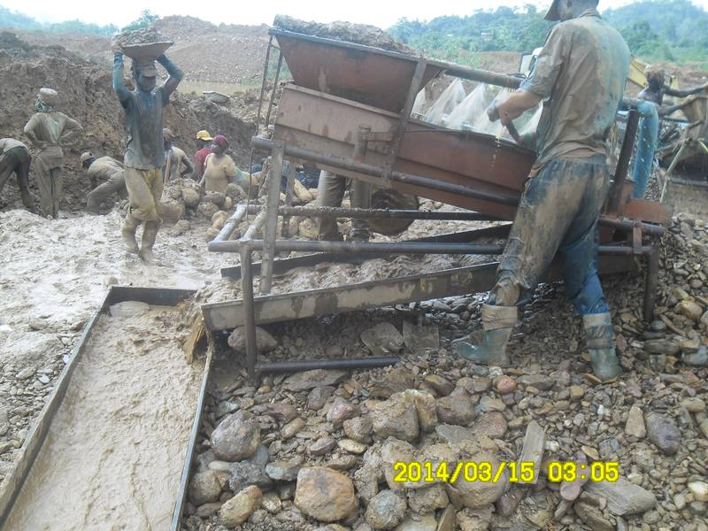 Work on the soagum the gold washing plant in Ghana