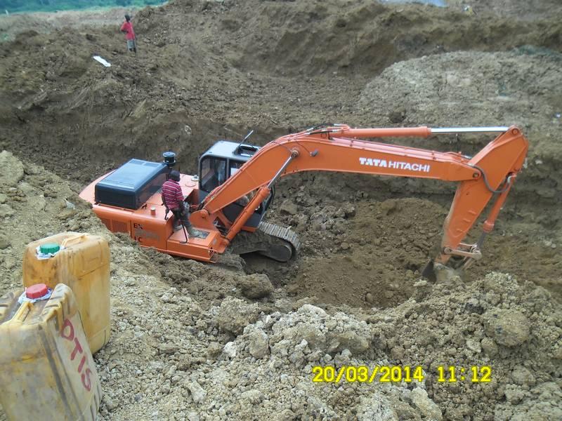Tata Hitachi excavator on the mining site