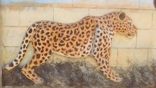 Leopard decoration in Tanzania, just before moving to Kenya