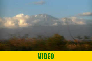 View of Kilimanjaro near Arusha, Tanzania on our travel to Kenya