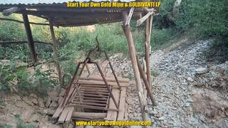 Mining shaft on mining site in Kenya