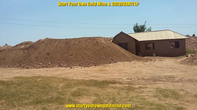 New mining site in Kenya with huge tailing heaps