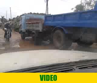 Driving in Geita, Tanzania