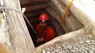 Inspection of the mining shaft
