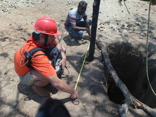 Measuring the size of the mining shaft