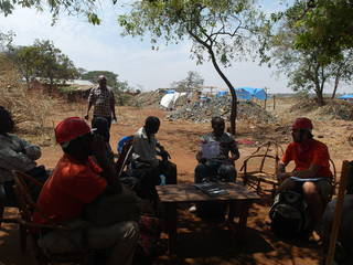 Meeting with gold miners