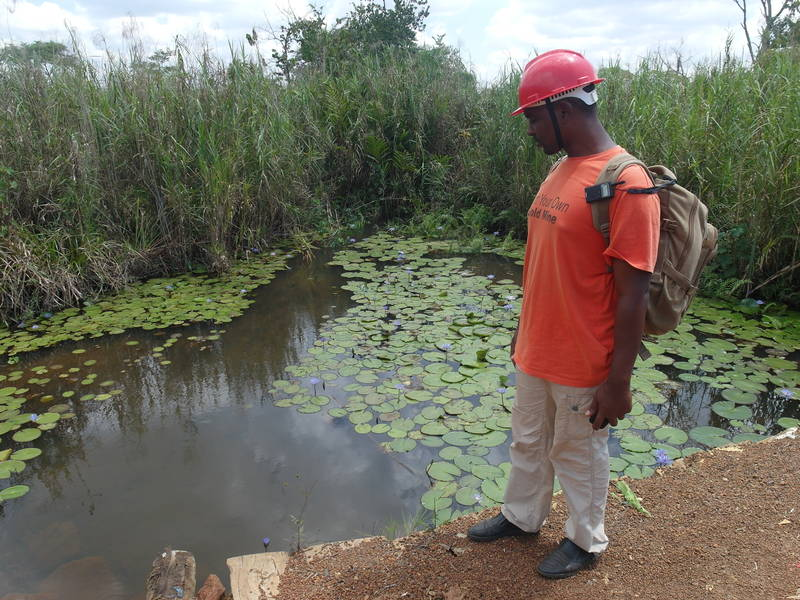 Laurence, staff member at the water source
