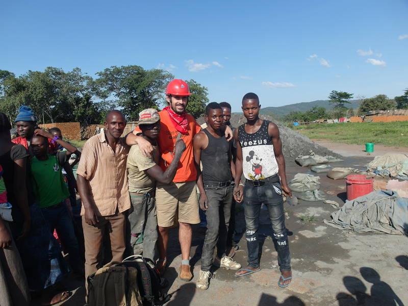 Local miners in Geita, Tanzania