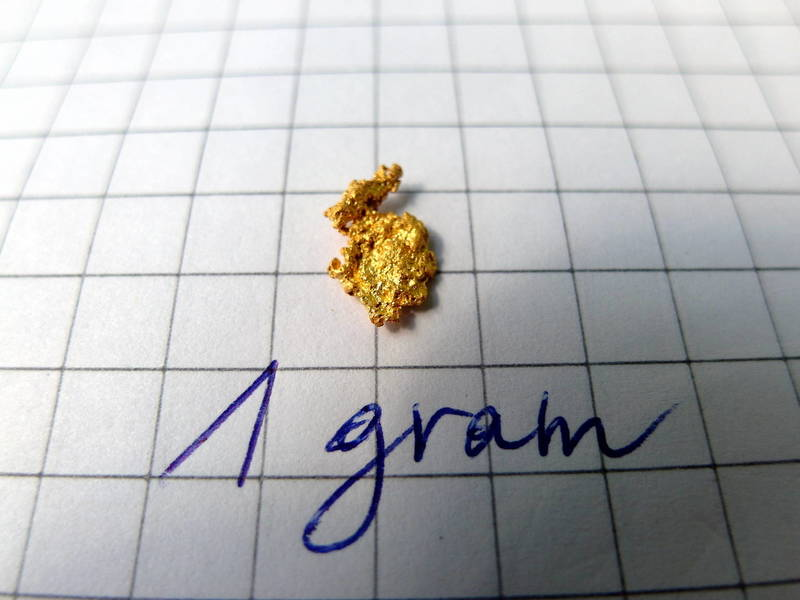 One beautiful gram of gold nugget