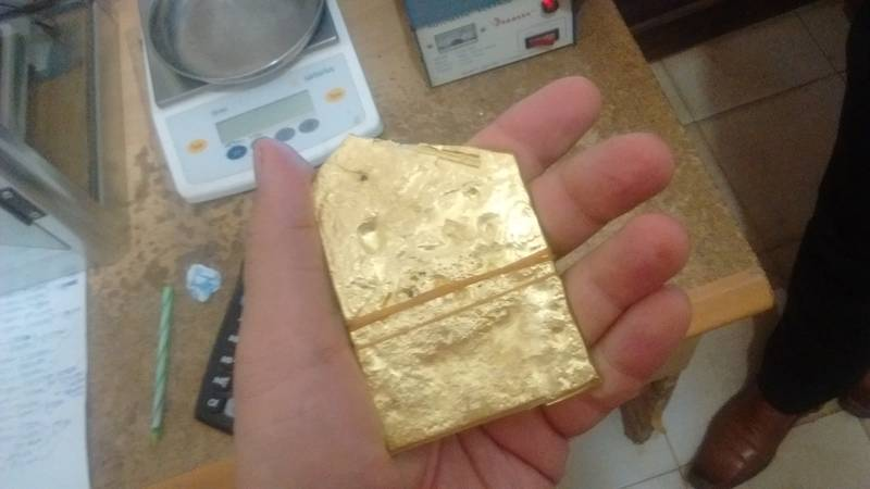 More than half a kilogram of gold in my hand