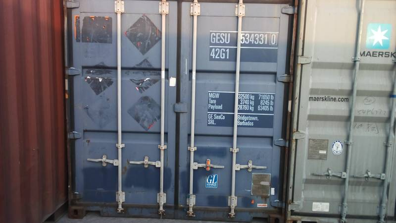 Container before the custom's inspection