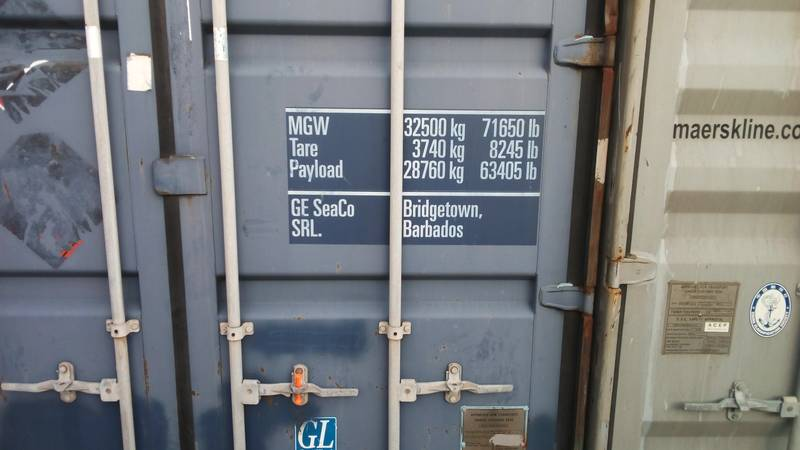 The specifications of our container