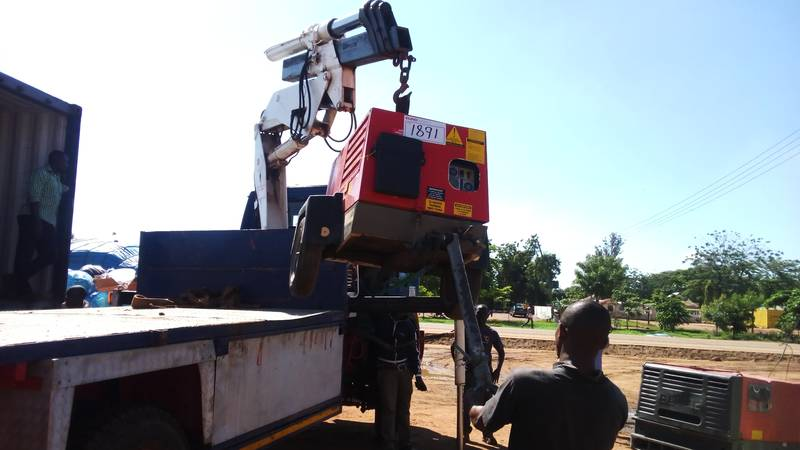 Offloading compressors one by one, total of 7 machines