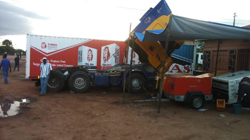Compressors on display in Kahama