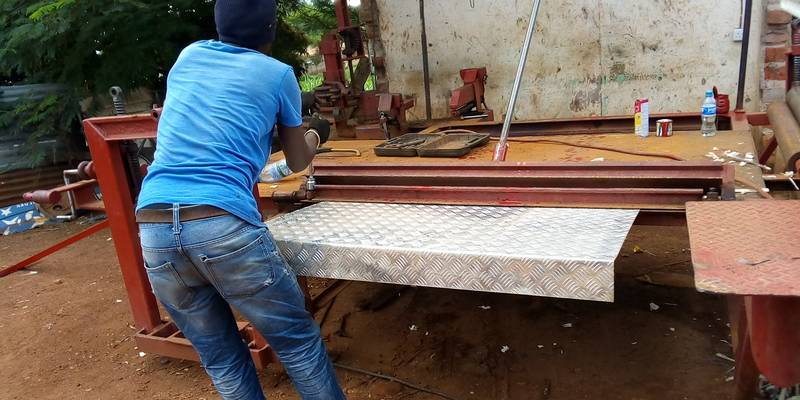 Sluice bending in Geita, Tanzania