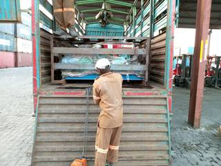 The ball mills loaded on the truck