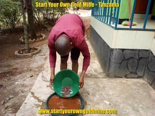 Mr. M'hengele Nkwabi gold panning