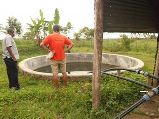 Jean Louis on the water tank