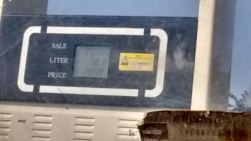 The price of diesel